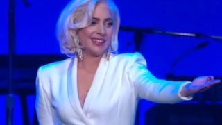 Lady Gaga Performing At Hurricane Relief Concert